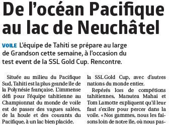 SSL Gold Cup, un vent des îles souffle sur Grandson.