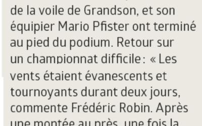 Championnat de France de Corsaire, Frédéric Robin, au pied du podium.